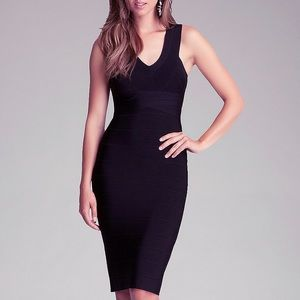 Bebe Black Bandage Midi Dress